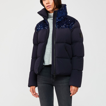 SEQUIN PUFFY COAT