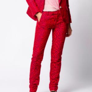 Red Leopard Trouser