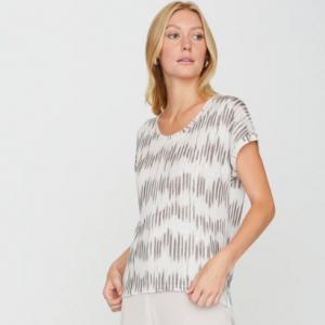Printed Linen Tshirt