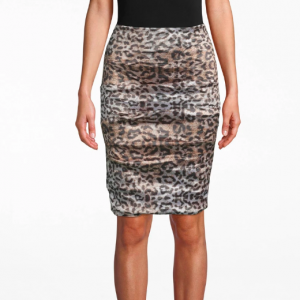 Leopard Ruched Skirt