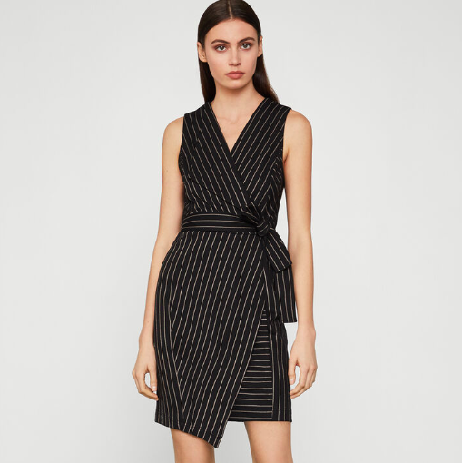 BCBG PINSTRIPE DRESS