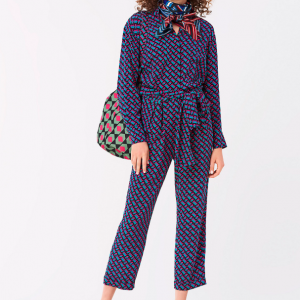 DVF SILK JUMPSUIT