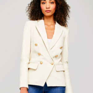 L'AGENCE LEATHER BLAZER