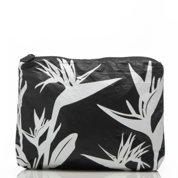 ALOHA BIRDS OF PARADISE ZIP BAG