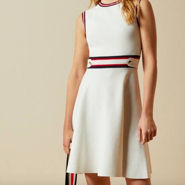 WHITE KNIT DRESS TED BAKER APRYLL