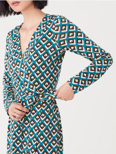 denver boutique printed wrap dress