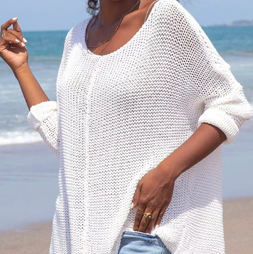 COTTON WOVEN SWEATER