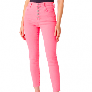 LILLIE HIGH RISE CROPPED SKINNY CORAL JEAN