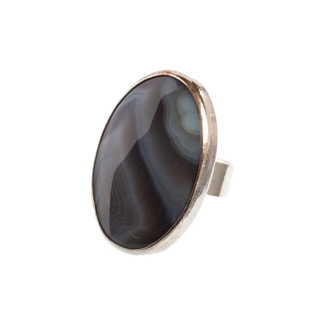 LARGE AGATE RING ANNE GANGEL