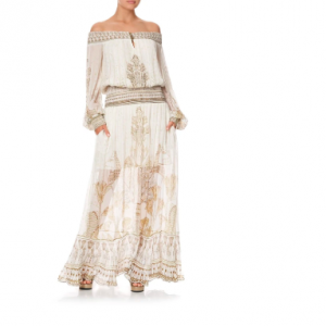 CAMILLA EGYPTIAN OFF THE SHOULDER MAXI DRESS