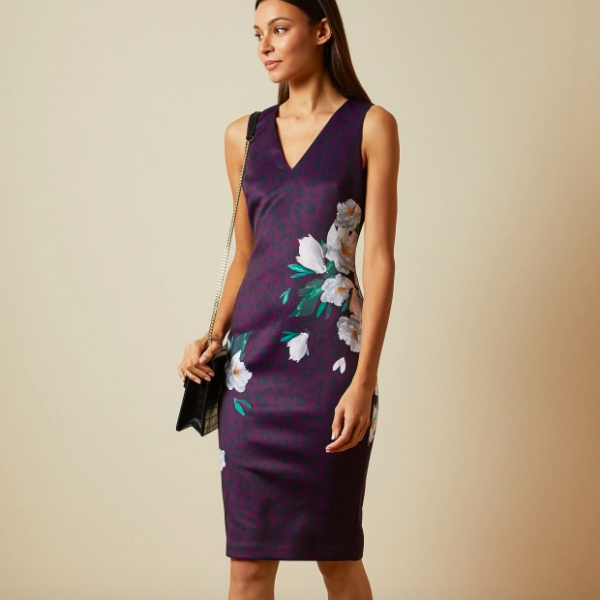PURPLE LEOPARD DRESS TED BAKER TORIIY