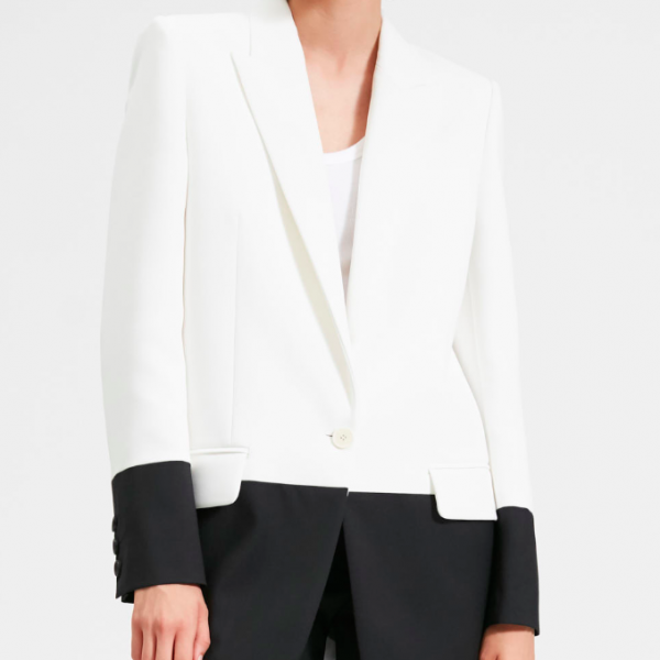 BARBARA BUI BLACK AND WHITE BLAZER