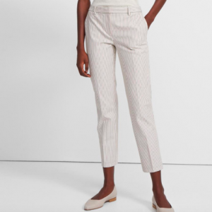 Theory Ivory Striped Pant