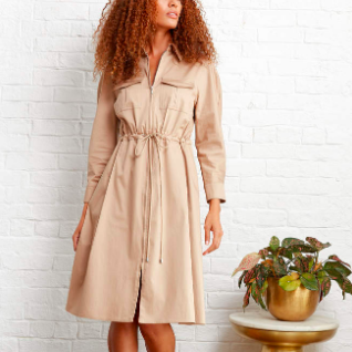 ELIE TAHARI DRESS KHAKI