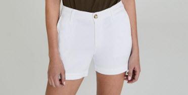 spring break essential tailored white shorts denver co
