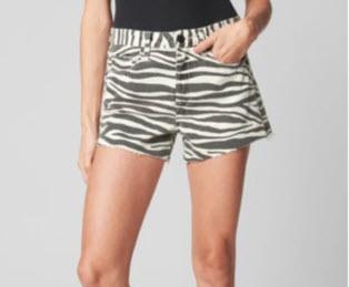 blank nyc animal print shorts denver clothing boutique