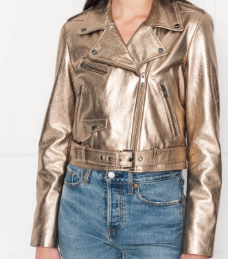 LaMarque Roberta Cropped Biker Jacket for Spring