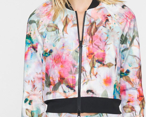 Pam Gela Floral Crop Jacket Denver Clothing