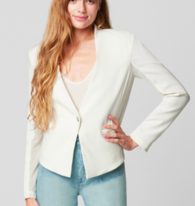 WHITE BLAZER EARLY BIRD BLANK NYC