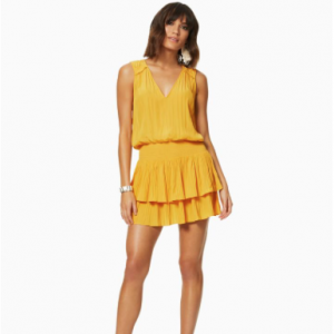 Yellow Vneck Sleeveless Dress Caitlin Ramy Brook