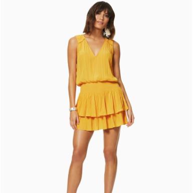 Yellow Vneck Sleeveless Dress Caitlin Ramy Brook