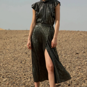 Black Long Wrap Skirt Sabina Musayev Diamond