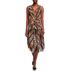 BEVERLY ANIMAL PRINT KOBI HALPERIN DRESS