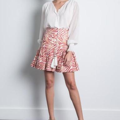 Karina Grimaldi Luli Print Mini Skirt Zebra