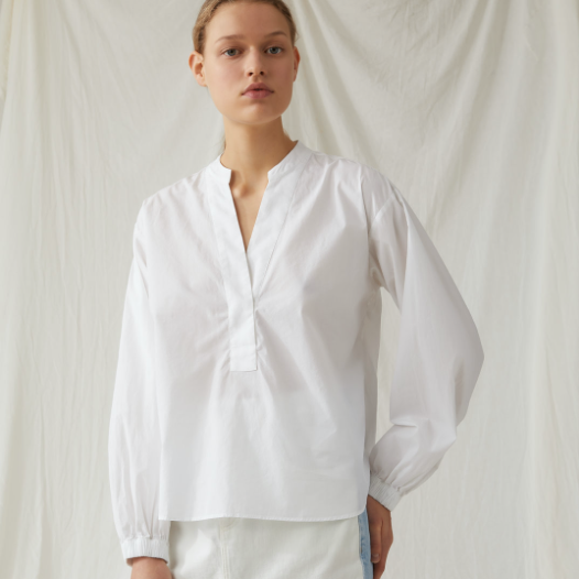 WHITE COTTON BLOUSE CLOSED