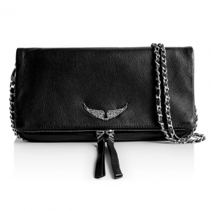 ROCK CLUTCH ZADIG AND VOLTAIRE NOIR