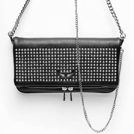 STUDDED SPIKE ROCK CLUTCH ZADIG AND VOLTAIRE