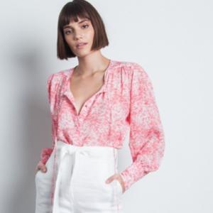 Pink Floral Blouse Karina Grimaldi