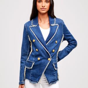 L'agence Denim Kaydence Blazer Jacket