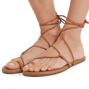 SUEDE LACE UP SANDAL JO TKEES
