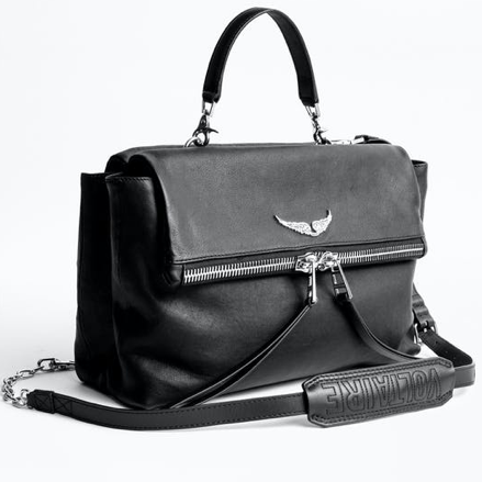 Suede and Leather Twin Bag Zadig and Voltaire