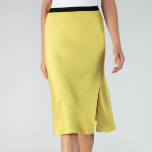 YELLOW SILK SKIRT ATM