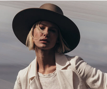 wide brim hat at cherry creek north clothing boutique