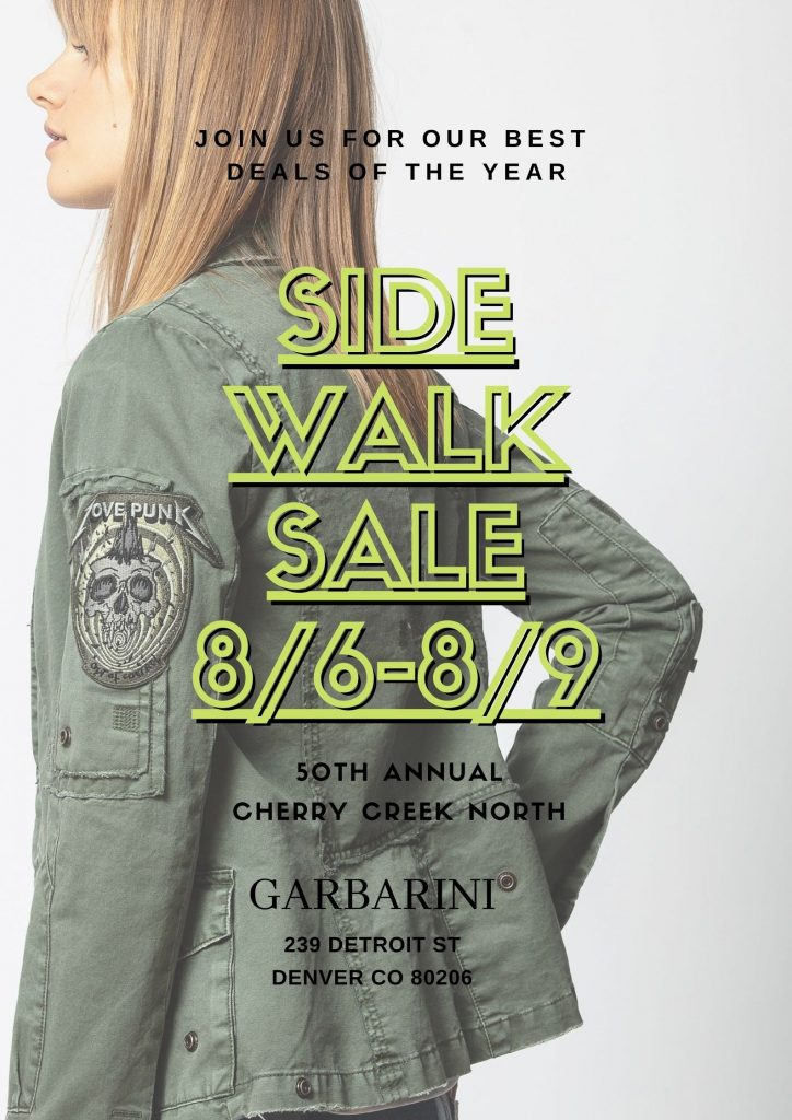 Side Walk Sale