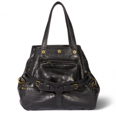 BILLY MEDIUM BAG JEROME DREYFUSS BLACK CROC