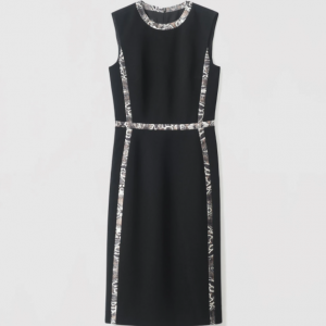 Picasso Dress Judith and Charles Reptile Detail Black