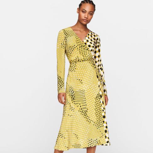 DVF Tilly Silk Crepe De Chine Midi Wrap Dress
