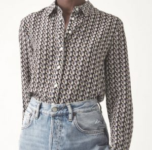 Judith & Charles Box Print Blouse Fall 2020