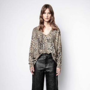 Leopard cashmere sweater Zadig and Voltaire