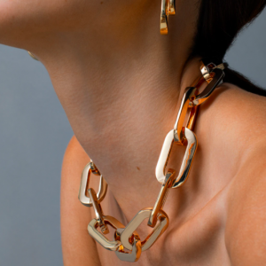 Mega Link Gold Necklace Chain Jenny Bird