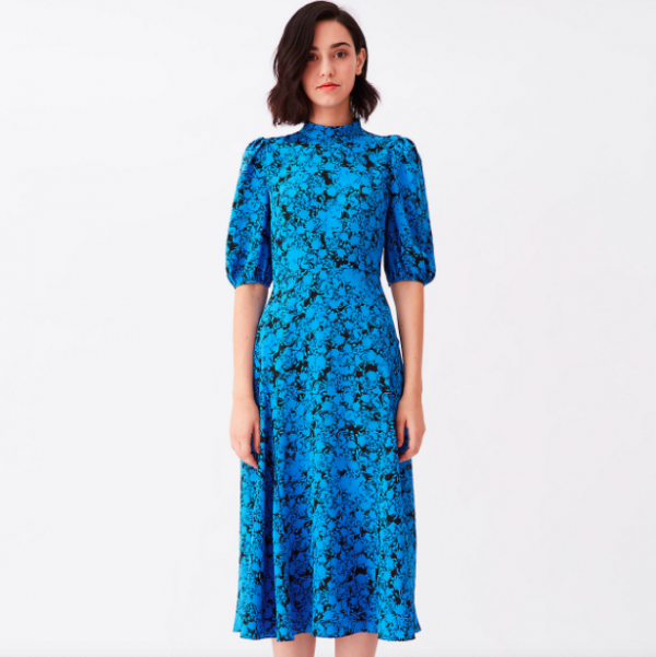 DVF Nella Crepe Midi Dress