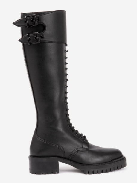 Barbara Bui designer Combat High Boots in Vegan Leather Denver Boutique
