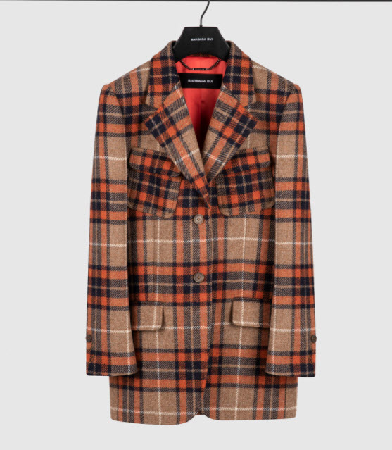 Barbara Bui designer Orange Tartan Tailored Jacket Cherry Creek CO clothing boutique
