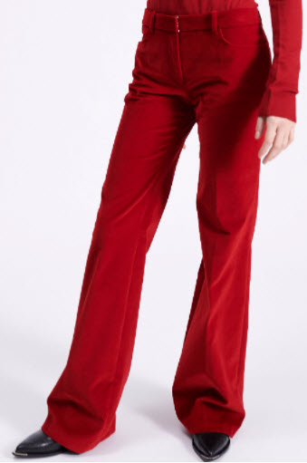 Barbara Bui Smooth Velvet Flare Trousers Denver clothing boutique