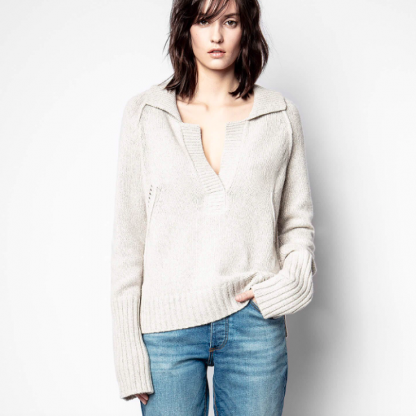 ZADIG AND VOLTAIRE BERRY CASHMERE SWEATER