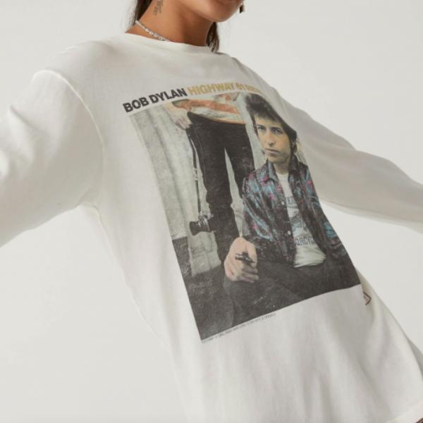 Bob Dylan Long Sleeve Tshirt Daydreamer LA